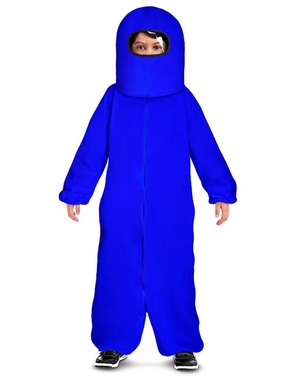 Disfraz de Among Us Impostor azul para niño