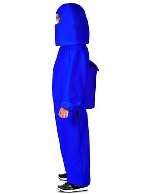Among Us Impostor blauw kostuum voor jongens