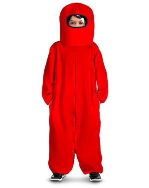 Disfraz de Among Us Impostor rojo para niño