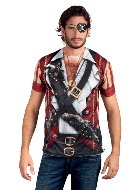 Camiseta de fotorrealista pirata para hombre