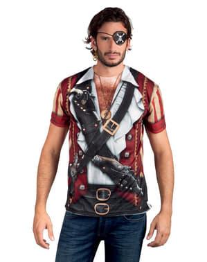 Мъжка фотореалистична пиратска тениска