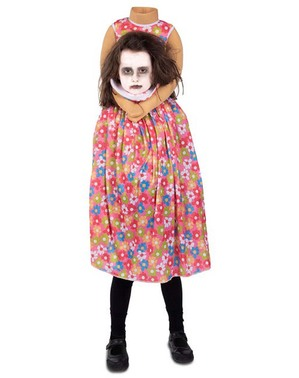 Disfraz de niña sin cabeza para niña