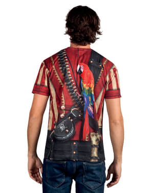Bluzka z realistycznym nadrukiem pirat męska