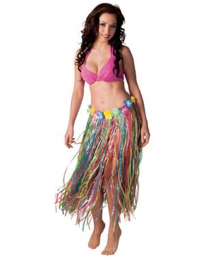 Hawaiiaanse rok meerkleurig voor vrouw