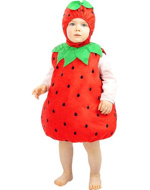 Costum de căpșuni pentru bebeluși