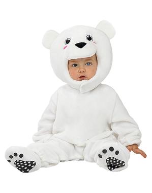 Бебешки костюм на бяла мечка