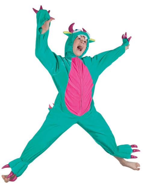 Disfraz de monstruo verde de peluche para niño - infantil