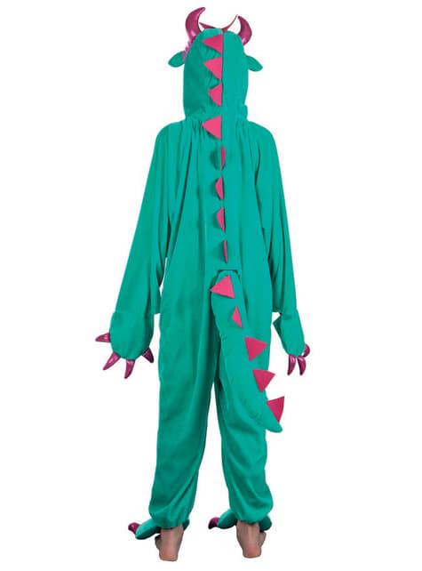 Disfraz de monstruo verde de peluche para niño - original