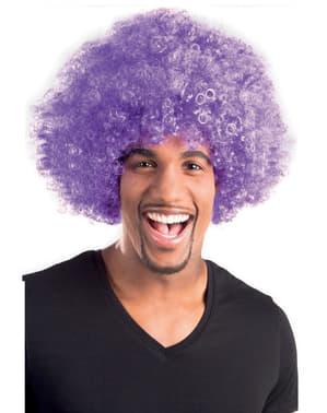 Aikuisten Afro Violetti Diskoperuukki