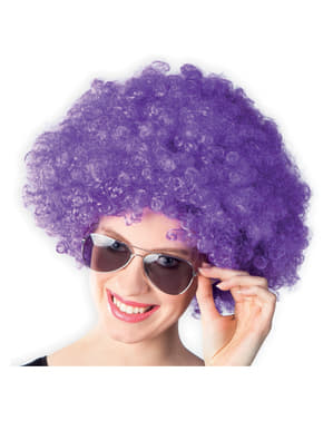 Perruque afro violette disco adulte