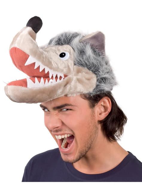 Gorro de lobo esfomeado para adulto