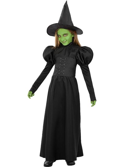 Disfraz de Bruja Mala del Oeste para niña - El Mago de Oz