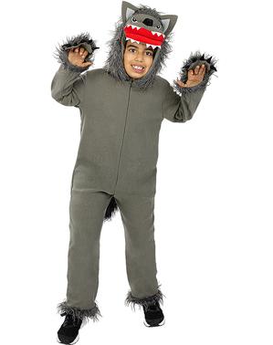 Disfraz de Lobo gris para niños