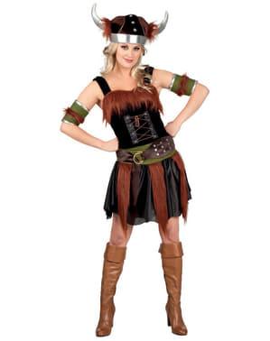 Costum de vikingă deluxe pentru femeie