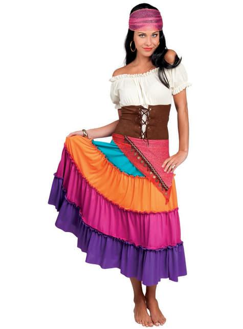 Disfraz de gitana del tarot para mujer