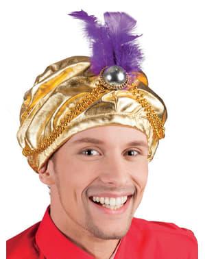 Turbante árabe con pluma para hombre