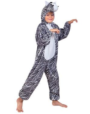Zebrakostume i plys til børn