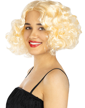 Perruque blonde années 20