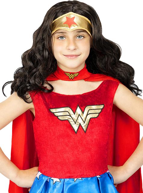 Peluca de Wonder Woman para niña