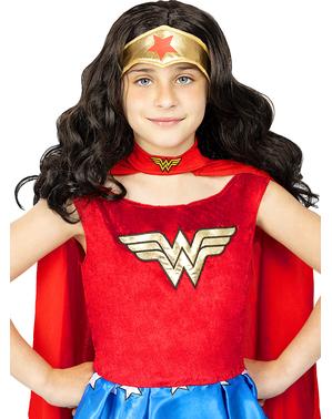 Wonder Woman pruik voor meisjes