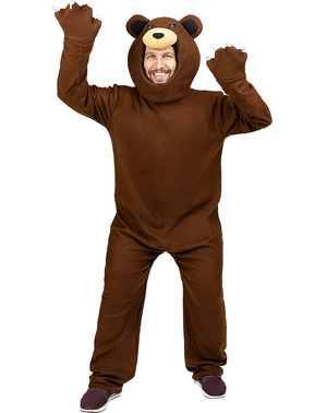 Déguisement ours brun adulte