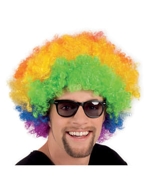 Adult's Multi-coloured Disco Afro Wig