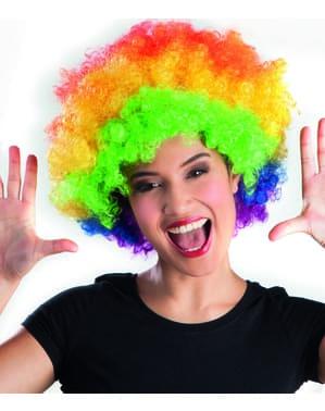 Meerkleurige disco afropruik voor volwassenen