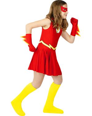 Disfraz de Flash para niña