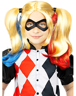 Perruque Harley Quinn pour fille