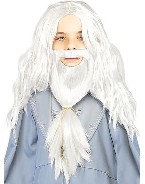 Peluca de Dumbledore con barba para niños - Harry Potter
