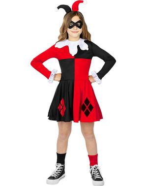 Fato de Harley Quinn para menina - DC Comics