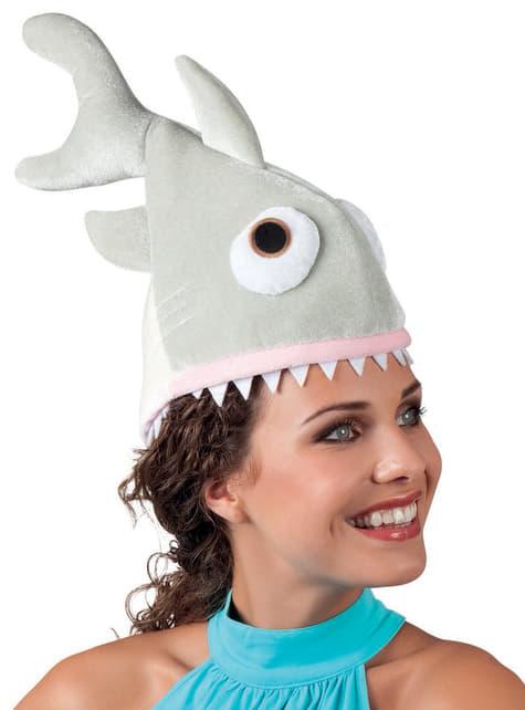 Gorro de tiburón hambriento para adulto