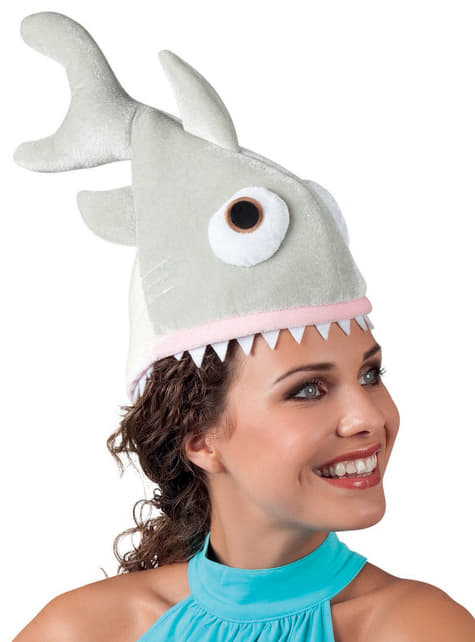 Gorro de tubarão esfomeado para adulto