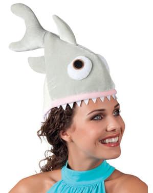 Hongerige haai hoed voor volwassenen