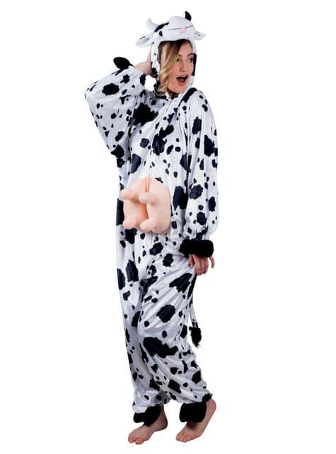 Disfraz de vaca de peluche para adulto - adulto