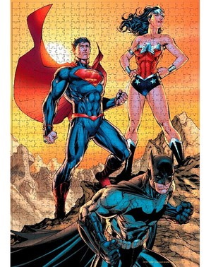 Batman, Superman og Wonder Woman Puslespill Justice League