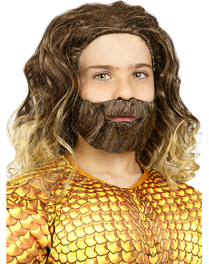 Aquaman Wig with Beard for Boys