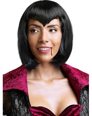 Черна вампирска перука