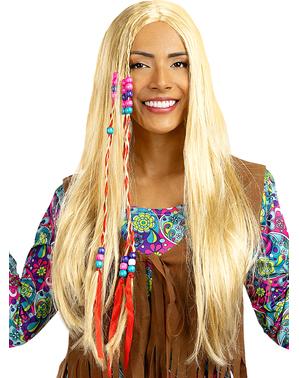 Peruca de hippie loira