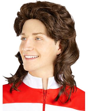 Мъжка кестенява перука от 80-те
