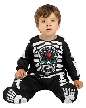 Skelet Dag van de Doden kostuum voor baby's