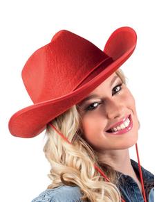 Sombrero de vaquero de rodeo rojo para adulto b4490bdfcf9