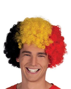 Peruca afro Bélgica para adulto