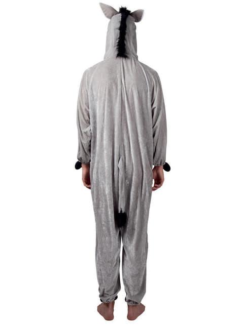 Disfraz de asno de peluche para adulto - traje