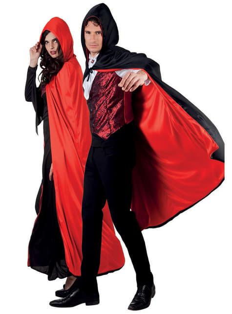 Capa de Conde drácula reversible con capucha para adulto - Halloween