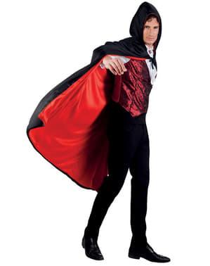 Capa de Conde drácula reversible con capucha para adulto