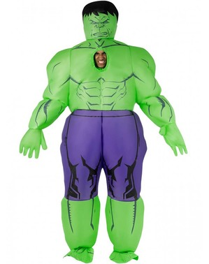 Inflatable Hulk Costume for Adults