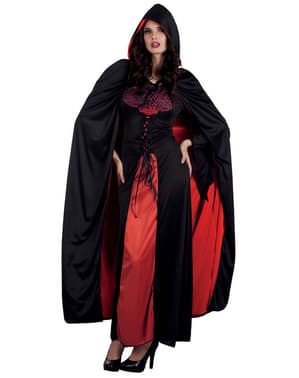 Oboustranný plášť pro dospělé hrabě Drákula černý/bílý