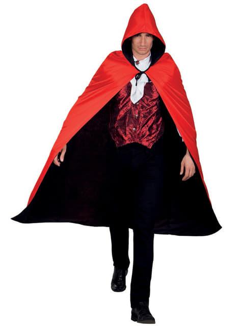 Capa de Conde drácula reversible con capucha para adulto - original