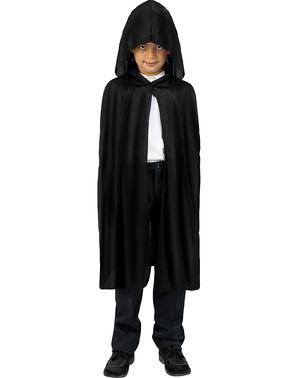 Lange zwarte cape voor kinderen